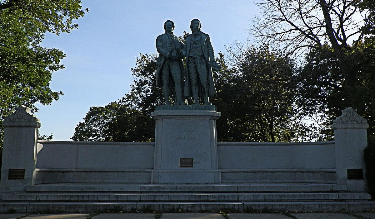 Goethe Schiller Monument Milwaukee Wikipedia