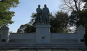 Goethe–Schiller Monument (Milwaukee) - Image: Goethe Schiller Monument 1908