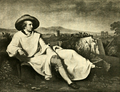 Goethe Among the Ruins of Rome (The Works of J. W. von Goethe, Volume 12).png