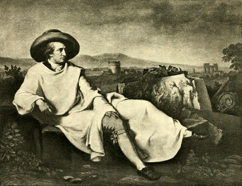 File:Goethe Among the Ruins of Rome (The Works of J. W. von Goethe, Volume 12).png