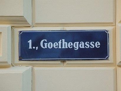 So kommt man zu der Goethegasse mit den Öffentlichen - Mehr zum Ort Hier