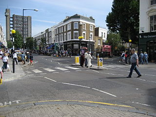 street in the Royal Borough of Kensington and Chelsea in London