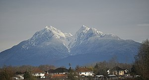 The Golden Ears mountain from Langley, BC.
