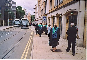 Goldsmith Street Nottingham. - geograph.org.uk - 128688.jpg & Nottingham Trent University tram stop - Wikipedia