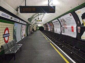 Goodge Street tube station - Image: Goodge Street stn southbound