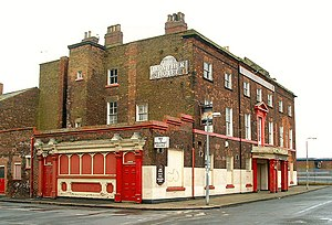 Goole - The Lowther Hotel, reputably the first building constructed in New Goole in 1824, opened as the Banks Arms Hotel, named after Sir Edward Banks a contractor for the Aire and Calder Navigation company.