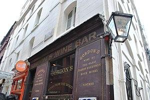 Villiers Street - Gordon's Wine Bar