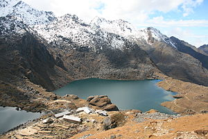 Langtang National Park - Image: Gosainkunda Lake