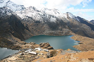 Rasuwa District - Gosaikunda lake is an alpine freshwater oligotrophic lake in Nepal's Langtang National Park.