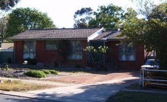 Public housing in the Australian Capital Territory - A government built house in the Belconnen district of Canberra