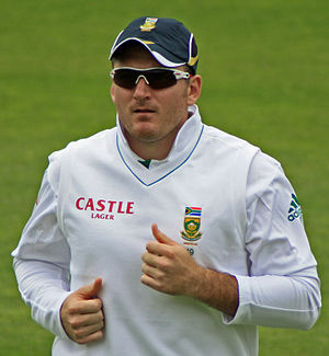 White South African - Graeme Smith, former test captain of the South Africa national cricket team.