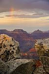 Grand Canyon Sunset & Rainbow (29128935684).jpg