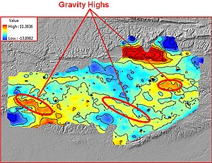 Geologic modelling - Gravity Highs
