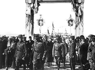 Greco-Turkish War (1919–1922) - Arrival of Crown Prince George in Smyrna, 1919.