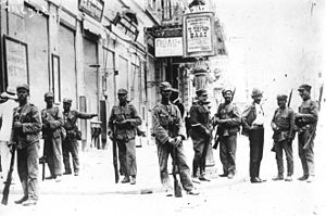 Theodoros Pangalos (general) - Soldiers on the streets of Athens during Pangalos' 1925 coup d'état.