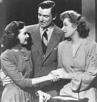 Walter Pidgeon - Pidgeon with Teresa Wright and Greer Garson in Mrs. Miniver (1942)