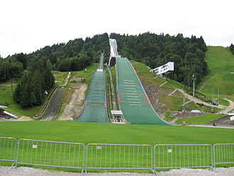 Große Olympiaschanze - The ramp and hill in Summer