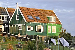 Marken is known for its characteristic old wooden buildings.