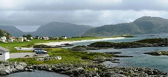 Bremanger - View of the Grotle beach area in Bremanger