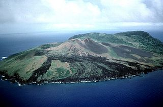 Guguan island in the Northern Mariana Islands in the Pacific Ocean