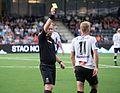 Gult kort fra fotballdommer Dag Vidar Hafsås.jpg