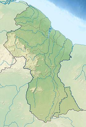 Carte Bresil Relief.Mont Caburai Wikipedia
