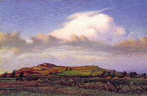 Varberg - The Håsten Hill at Varberg (1898), painting by Nils Kreuger