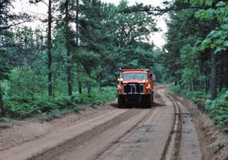 H-58 (Michigan county highway) - Image: H 58 grading ACRC