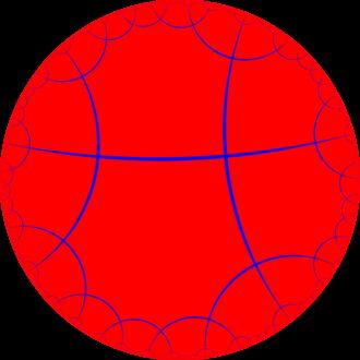 Order-4 octagonal tiling - Image: H2 tiling 248 1