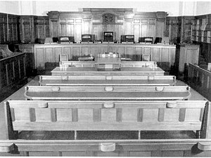 High Court of Australia - The court's home between 1928 and 1980, the purpose-built courtroom in Little Bourke Street, Melbourne.