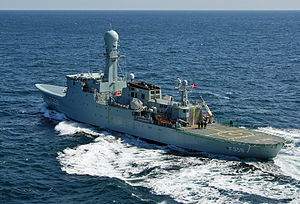 HDMS Vædderen (F359) in the Atlantic, March 2008