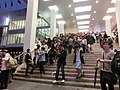 HK TST night Harbour City front stairs visitors May-2013.JPG