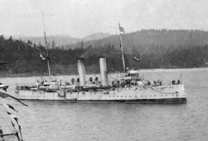 History of the Royal Canadian Navy - HMCS Rainbow in 1910