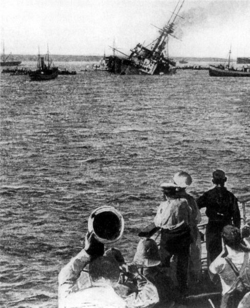 File:HMS Majestic sinking 27 May 1915.jpg