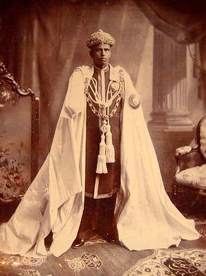 Rama Varma XV - H H Raja of Cochin (Durbar Delhi 1903)