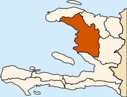 Location of the Artibonite Department