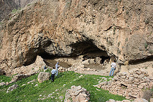 Hawraman - A cave site near Hajij village, where archaeologists discovered stone tools dating back to more than 40 thousand years ago in 2015