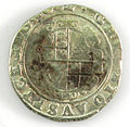 Halfcrown of Charles I - Counterfeit (YORYM-1995.109.37) reverse.jpg