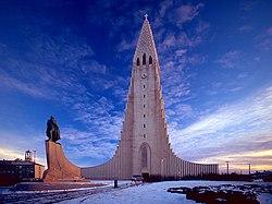 Hallgrímskirkja, Church of Hallgrímur, in Reykjavík, Iceland.