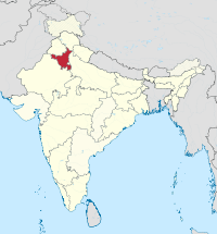 Haryana in India (disputed hatched).svg
