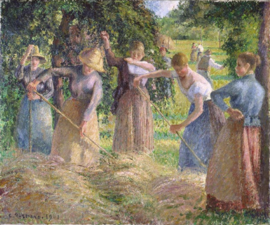 Hay Harvest at Éragny / Fenaison à Éragny (1901) by Camille Pissarro National Gallery of Canada
