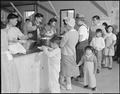 Heart Mountain Relocation Center, Heart Mountain, Wyoming. Dinner is served caffeteria style to you . . . - NARA - 538790.tif