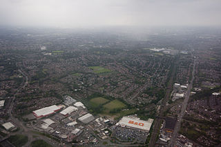Heaton Moor suburb of Stockport, Greater Manchester, England