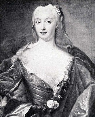 1734 in Sweden - Hedvig Taube by Lorens Pasch.