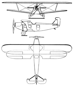 Heinkel HD-39 3-view Les Ailes July 1, 1926.png