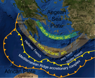 Mediterranean Ridge - Location of the ridge