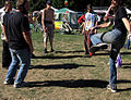 Festival goers at the 2007 Hempstalk in Portland, Oregon playing Hackey Sack