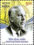 Henning Holck-Larsen 2008 stamp of India.jpg