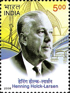 Henning Holck-Larsen 2008 stamp of India.jpg