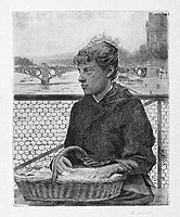 Henri Delavallée La marchande d'épingles du pont des arts.jpg